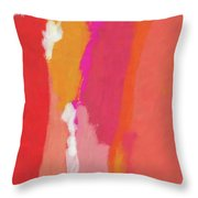 Slow Burn- Abstract Art By Linda Woods Throw Pillow