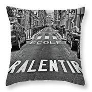 Slow - School Throw Pillow