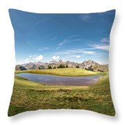 Small Lake In The Mountains Throw Pillow