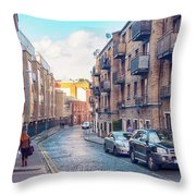 small street of Dublin Throw Pillow by Ariadna De Raadt