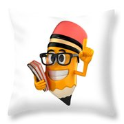 Smart Pencil Throw Pillow
