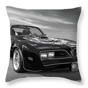 Smokey And The Bandit Trans Am In Mono Throw Pillow