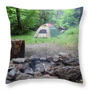 Smoking Tents Throw Pillow