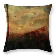 Smoky Morning Throw Pillow