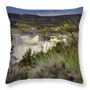 Snake River Canyon Throw Pillow