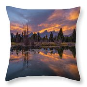Snake River Glory Throw Pillow