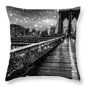 Snow Collection Set 05 Throw Pillow