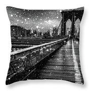Snow Collection Set 05 Throw Pillow