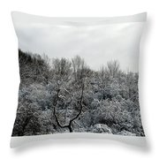 Snow Covered Trees Throw Pillow by Rose Santuci-Sofranko