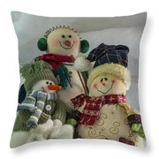 Snow Folk Throw Pillow