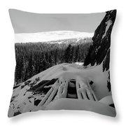 Snow Trellis Throw Pillow