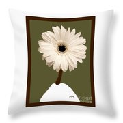 Snow White Gerber Throw Pillow