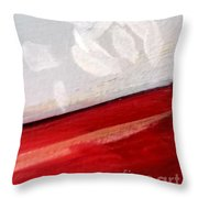 Snowflake With Red Throw Pillow
