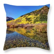 Snowmass Creek Throw Pillow