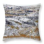 Snowy Dakota Throw Pillow