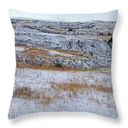 Snowy Slope County Territory Throw Pillow