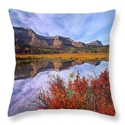 Sofa Mountain Reflecteion, Waterton Throw Pillow
