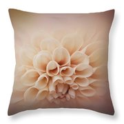 Soft, Subtle Dahlia Throw Pillow