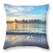 Soft Waves Throw Pillow by Debra and Dave Vanderlaan