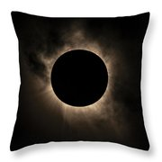 Solar Eclipse Of 2017 Throw Pillow