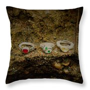 Soldered Rings Throw Pillow