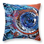 Solidarity On Copper And Teal Throw Pillow