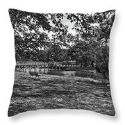 Solitude In Black And White Throw Pillow