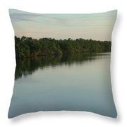 Someone On The Other Dock Throw Pillow