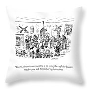 Someplace Off The Beaten Path Throw Pillow