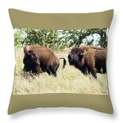 Something Is In The Wind Throw Pillow by Sally Sperry