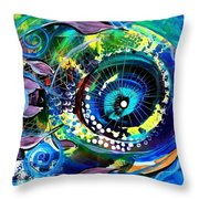 Sonata Toward Blue Throw Pillow