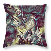 Sonya Portrait 2 Throw Pillow