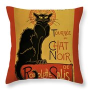 Soon, The Black Cat Tour By Rodolphe Salis - Digital Remastered Edition Throw Pillow