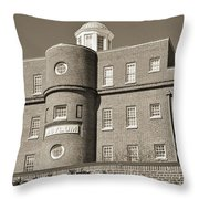 South Carolina State Hospital Asylum Black And White Throw Pillow by Lisa Wooten