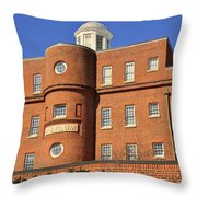 South Carolina State Hospital Asylum Throw Pillow by Lisa Wooten