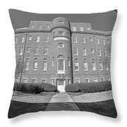 South Carolina State Hospital Black And White Throw Pillow by Lisa Wooten
