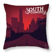 South Congress Avenue Throw Pillow