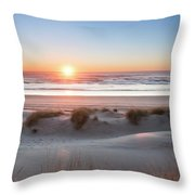 South Jetty Beach Sunset, No. 4 Throw Pillow by Belinda Greb