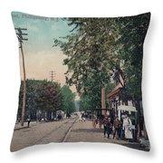 South Main Street Phillipsburg N J Throw Pillow by Mark Miller