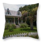 Southern Coastal Tin Roof Cottage Throw Pillow