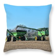 Soybean Harvest Max Throw Pillow