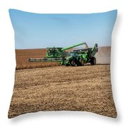Soybeans Harvest Throw Pillow