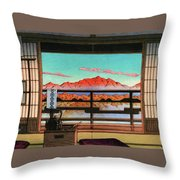 Spa Hotel Morning - Digital Remastered Edition Throw Pillow