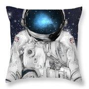 Space Adventurer  Throw Pillow
