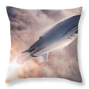 Spacex Bfr Epic Launch Throw Pillow