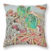 Spaghetti And Shrimp Throw Pillow