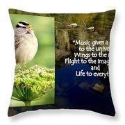 Sparrows Music Throw Pillow