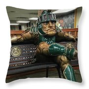 Sparty At Rest Throw Pillow