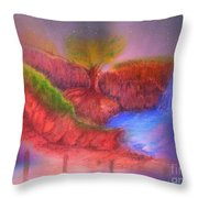Spec In The Galaxy Throw Pillow