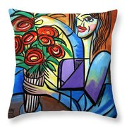 Special Delivery Throw Pillow by Anthony Falbo